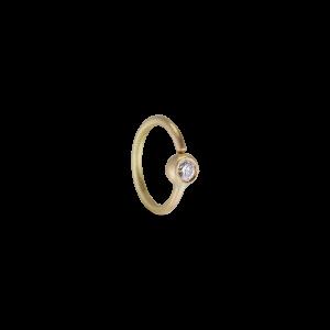Twist earring, 18 karat guld, 0.03 ct diamant