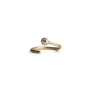 Twist Earring, 18-carat gold, 0.02 ct. diamond