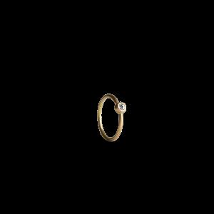 Twist Earring, 18-carat gold, 0.02 ct. diamond