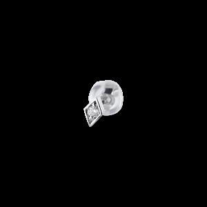 Rhomb ear stud, 18 karat vitt guld, 0.025 ct diamant