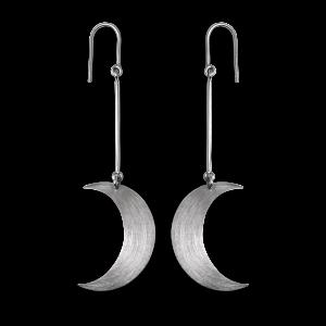 Half Moon Earring, sterling sølv