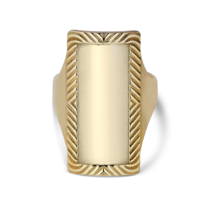 Impression Armour Ring, forgylt sterlingsølv