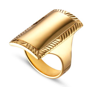 Impression Armour Ring, gold-plated sterling silver