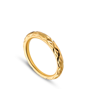 Small Impression Ring, gold-plated sterling silver