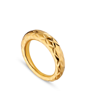 Big Impression Ring, gold-plated sterling silver