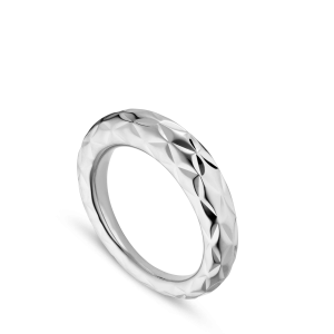 Big Impression Ring, sterling silver