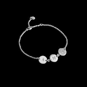 Lovetag Bracelet with 3 Lovetags, sterling sølv