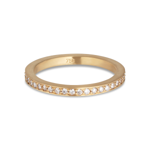 Allianzring, 18 Karat Gold, 0,005 ct Diamanten