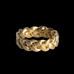 Big Braided Ring, vergoldetem Sterlingsilber