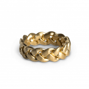 Big Braided Ring, 18 karat guld