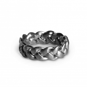Big Braided Ring, rhodiniertem Sterlingsilber