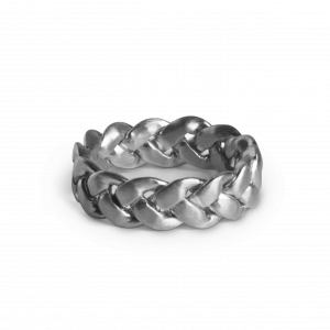 Big Braided Ring, sterling sølv