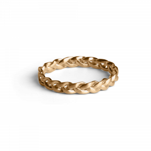 Small Braided Ring, gold-plated sterling silver