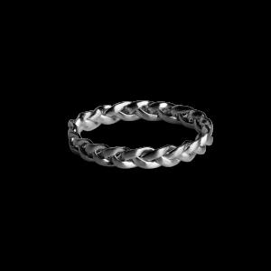 Small Braided Ring, rhodiniertem Sterlingsilber