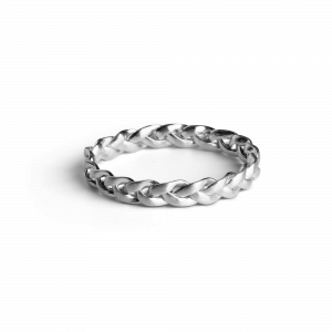Small Braided Ring, sterling sølv
