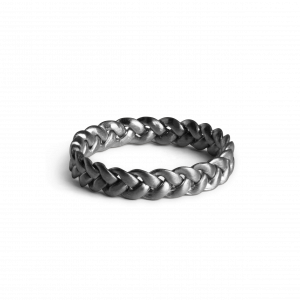 Medium Braided Ring, rhodiniertem Sterlingsilber