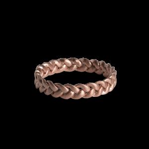 Medium Braided Ring, rosaforgylt sterlingsølv