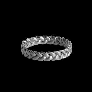 Medium Braided Ring, sterling sølv