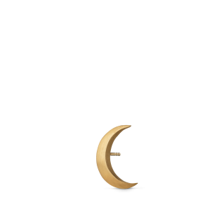 Big Half Moon Stud, forgyldt sterlingsølv