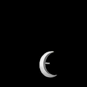 Big Half Moon Stud, sterling silver
