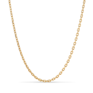 F+E Chain Necklace, forgyldt sterling sølv