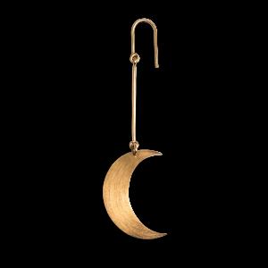 Half Moon Earring, forgyldt sterling sølv