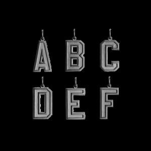 Letter Pendant, rhodineret sterlingsølv