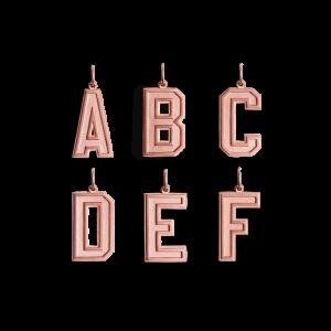 Letter Pendant, rosaforgylt sterlingsølv