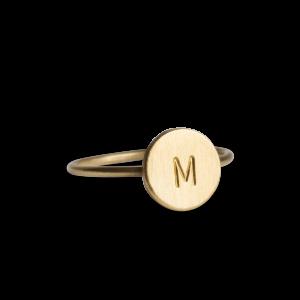Lovetag Ring, forgyldt sterling sølv