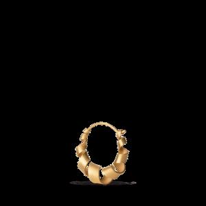 Small Curly Hoop, vergoldetes Sterlingsilber