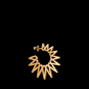 Sun Earring, forgyldt sterling sølv