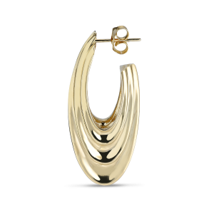 Sculpture Earring, gold-plated sterling silver