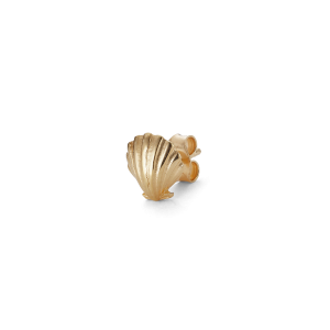 Salon Scallop Earstud Front, gold-plated sterling silver