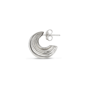 Small Sculpture Earring, sterling silver