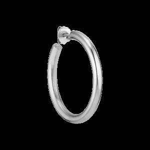 Shiny Slender Hoop, silver