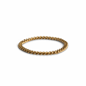Small Chain Ring, forgyldt sterling sølv