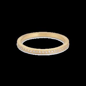 Small alliance ring, 18 karat guld, 0.005 ct diamanter