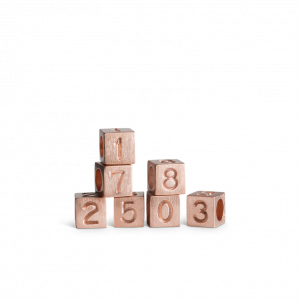 Love Letter Numbers, rose gold plated sterling silver