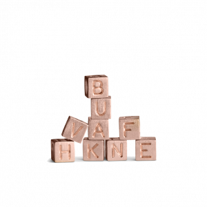 Loveletter Alphabet, rosavergoldetem Sterlingsilber