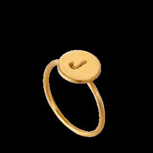 Lovetag Ring | Forgyldt