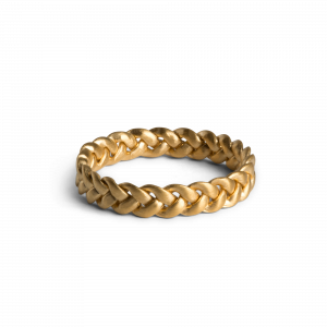 Medium Braided Ring, gold-plated sterling silver