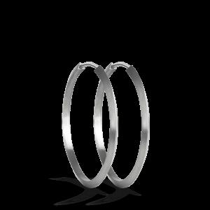 Midi Hoop | Mat sølv