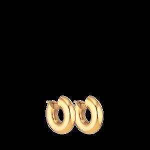Chunky Hoop | Lille | Blank forgyldt