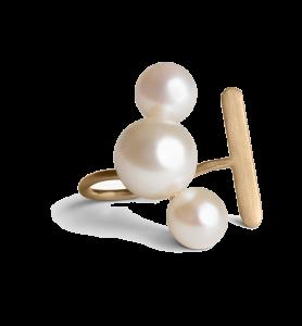 Large Pearl Ear Cuff, förgyllt sterlingsilver