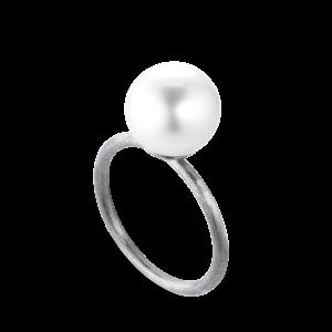 Perle Ring | Stor | Sølv