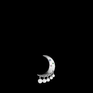 Pearl Moon Earring, sterling sølv