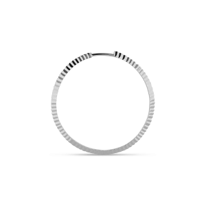 Reflection Midi hoop, Sterlingsilber