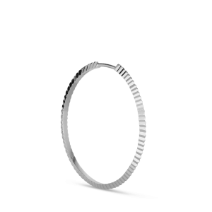 Reflection Midi hoop, sterling silver