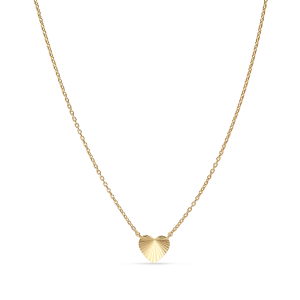 Reflection Heart necklace, gold-plated sterling silver