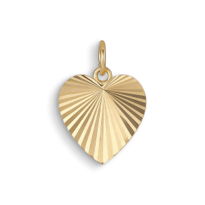 Reflection Heart pendant, gold-plated sterling silver
